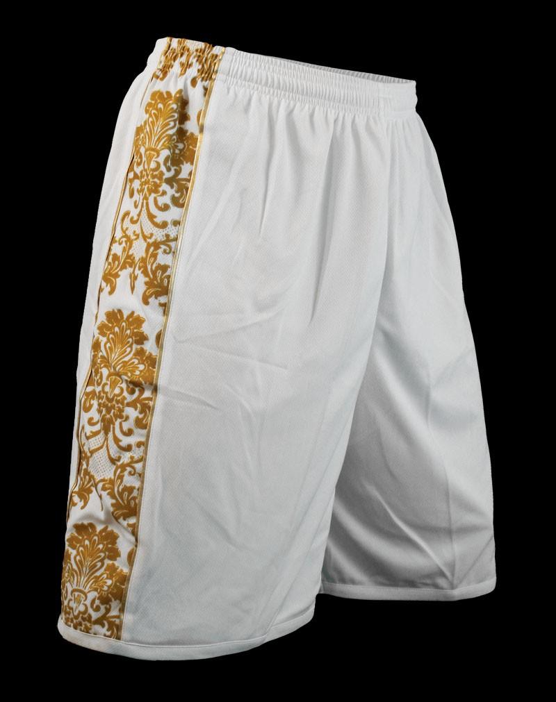 Louis XIV Bermudas blanc or