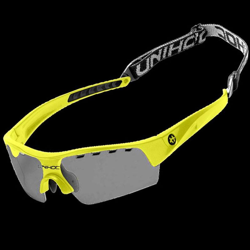 unihoc lunettes de sport Victory Kids jaune néon