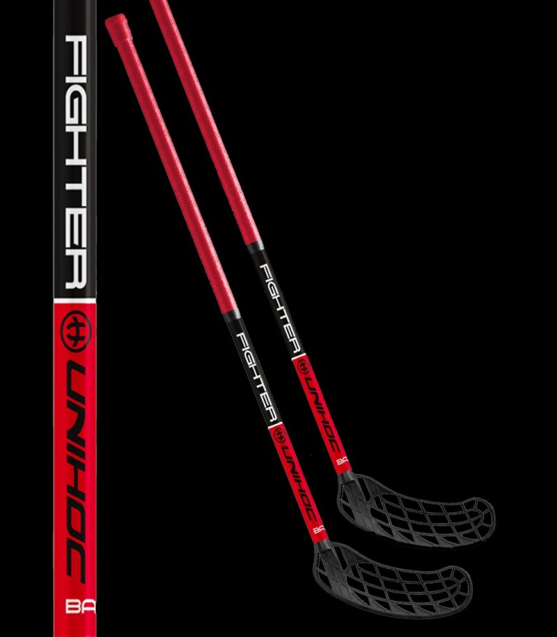 unihoc Basic Fighter red/black (2-Pack)