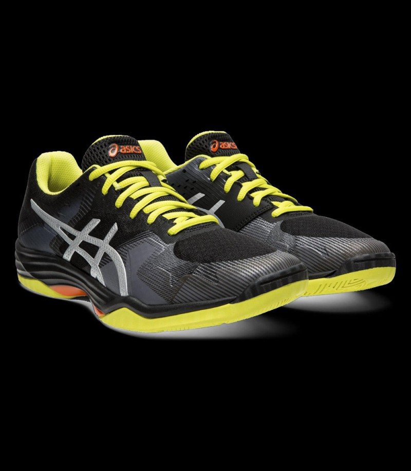 asics GEL-TACTIC black/silver/yellow