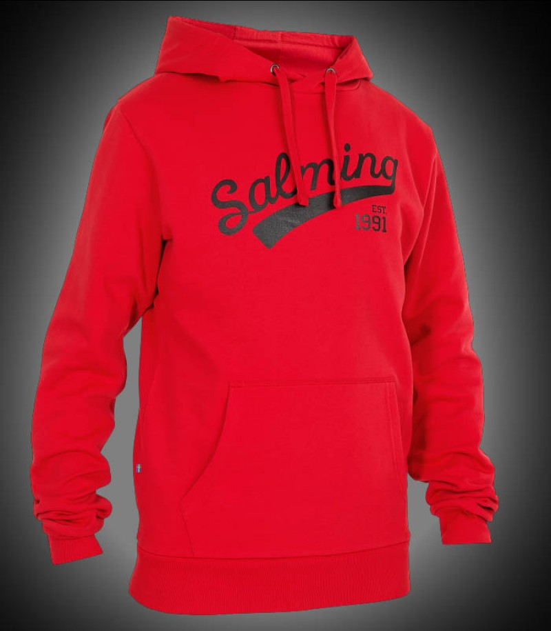 Salming Logo Hood red