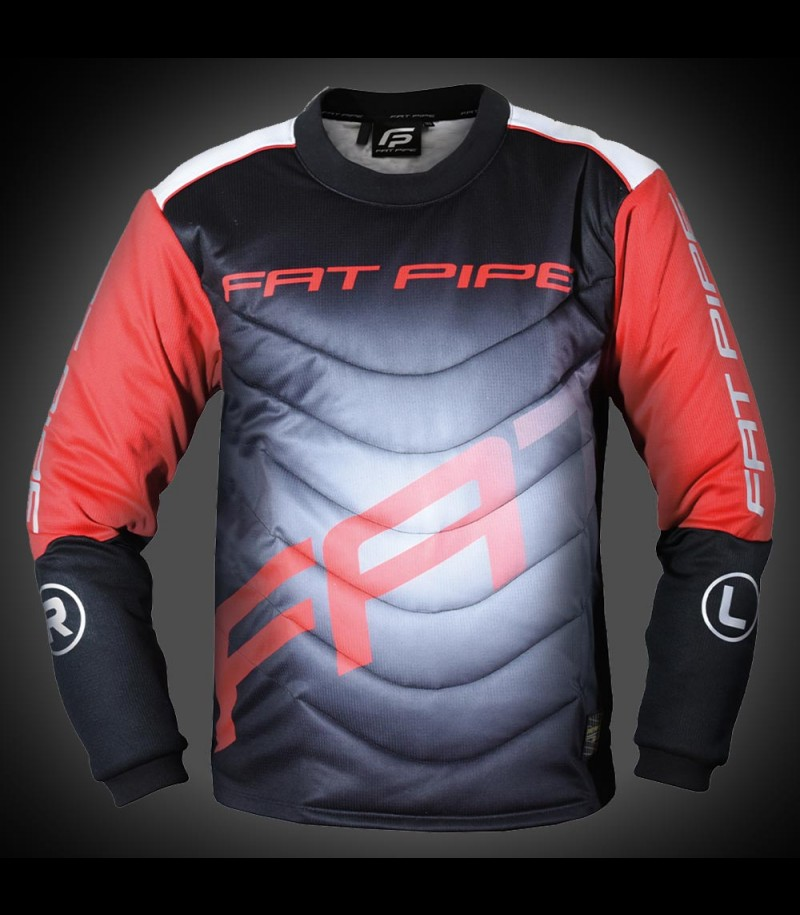 Fatpipe Maillot de gardien de but Junior noir/rouge