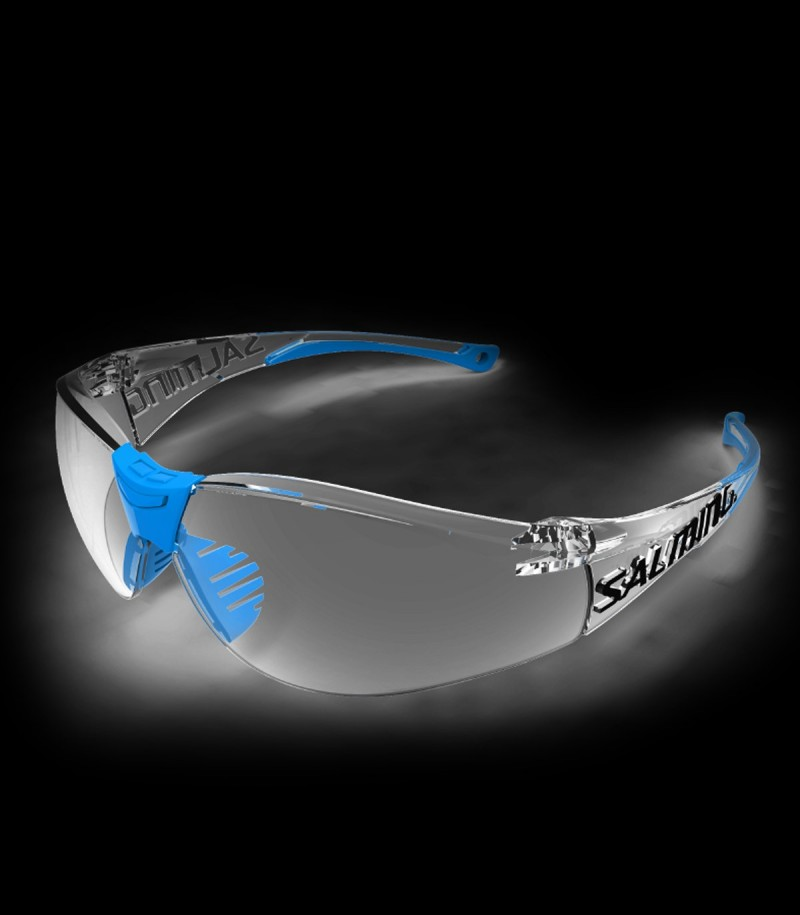 Salming Lunette de protection Split Vision Senior bleu