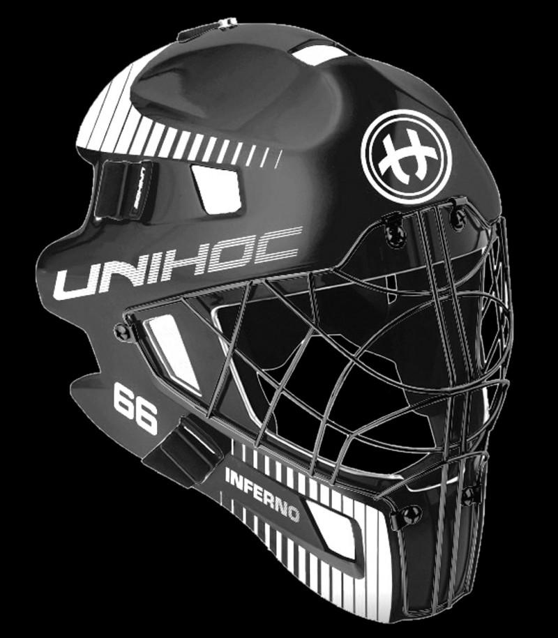 unihoc Masque de gardien Inferno 66 noir/blanc