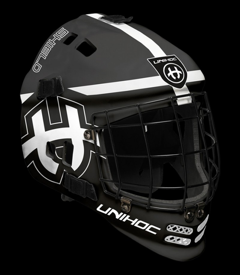 unihoc Masque de gardien Shield noir/blanc