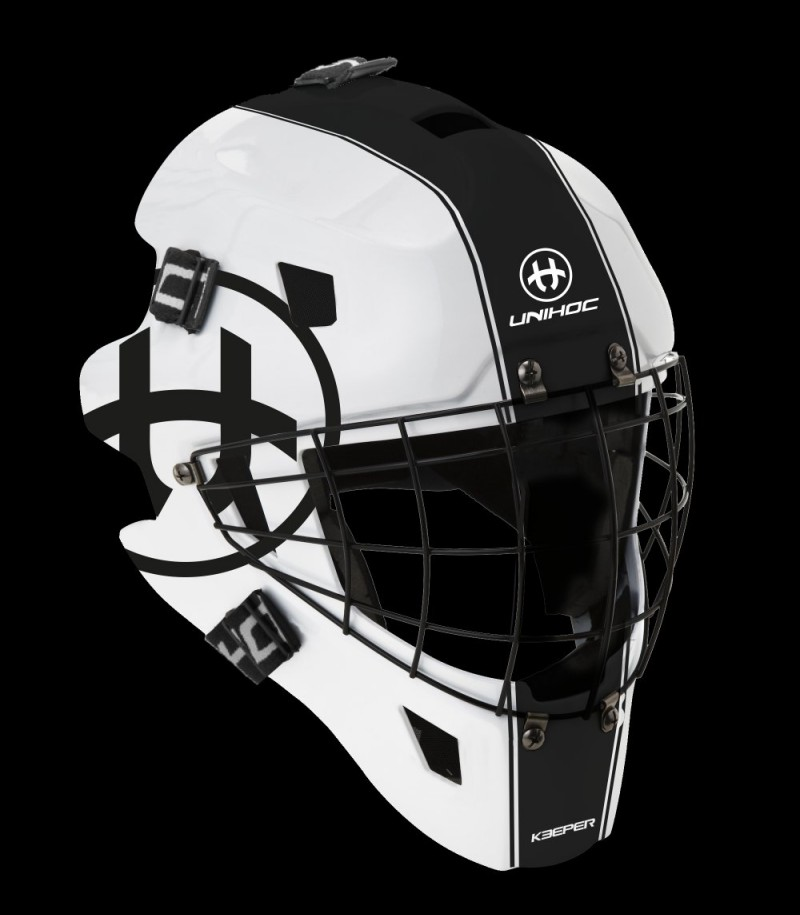 unihoc Masque de gardien de but Keeper 44 blanc/noir