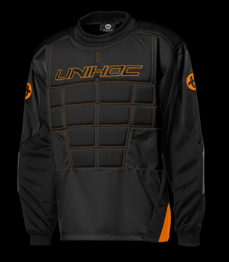 unihoc Pull-over de gardien Blocker Senior noir/orange
