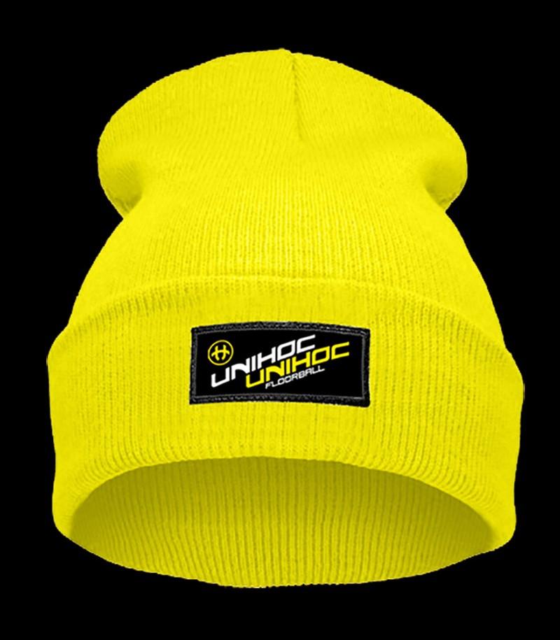 unihoc Beanie Smooth jaune-néon
