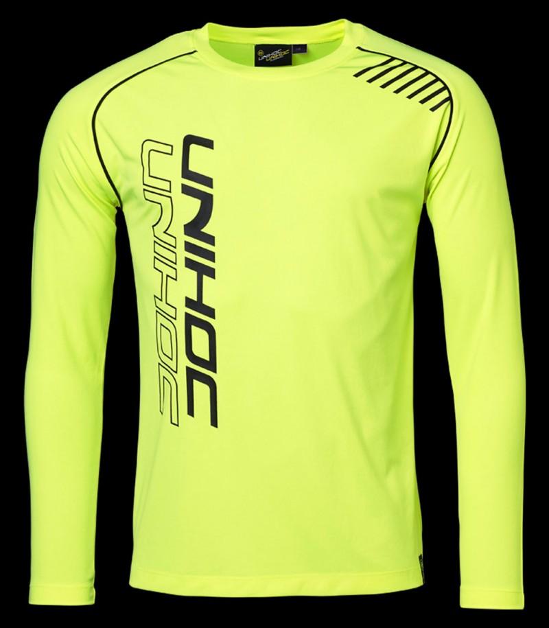 unihoc Warm-up Longsleeve Shirt jaune néon