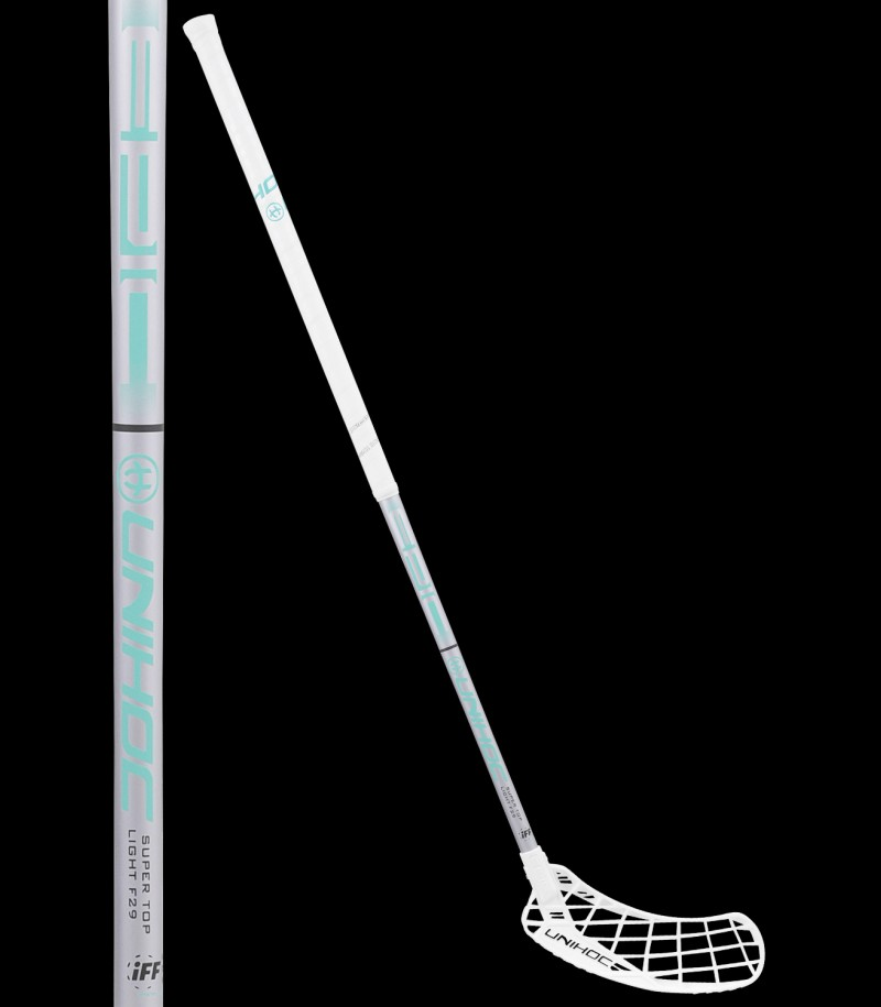 unihoc EPIC Super Top Light 29 white/turquoise