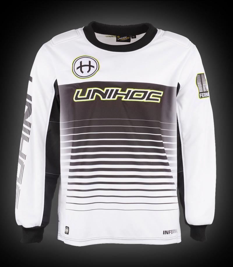 unihoc Goalietop Inferno Senior blanc/noir