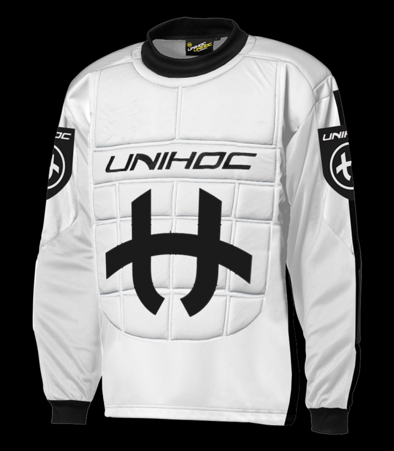 unihoc Pull-over de gardien Shield Senior blanc/noir