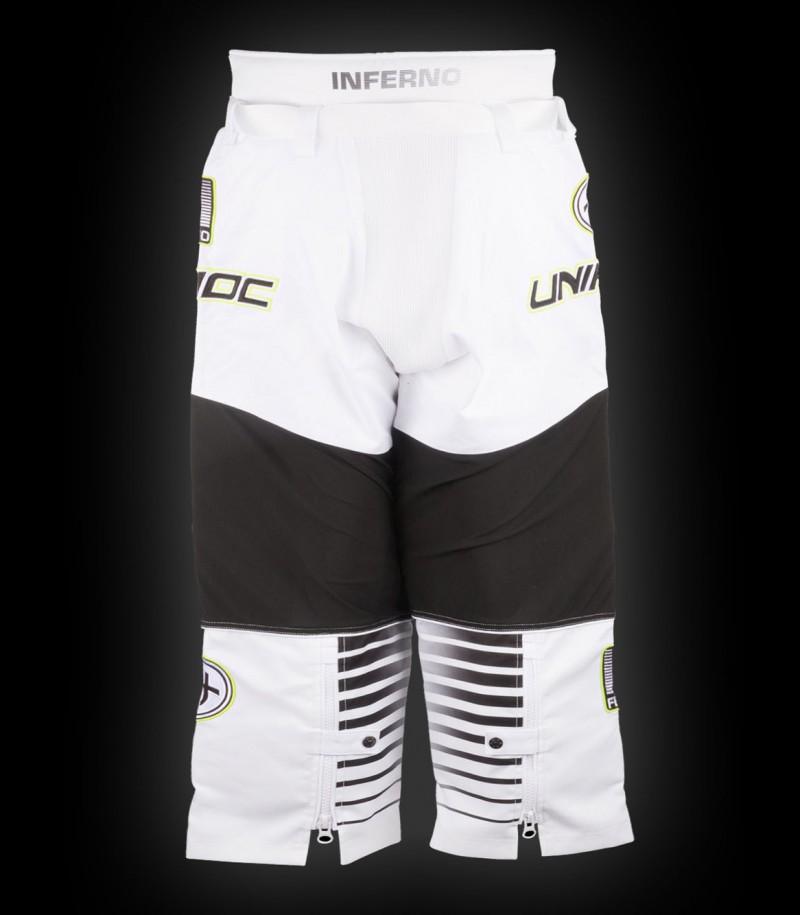 unihoc Pantalon de gardien Inferno Senior blanc/noir