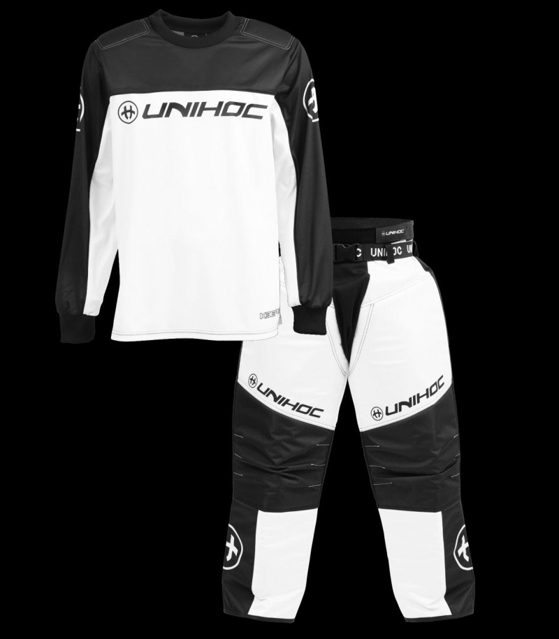 unihoc set de gardien de but Keeper Junior noir/blanc