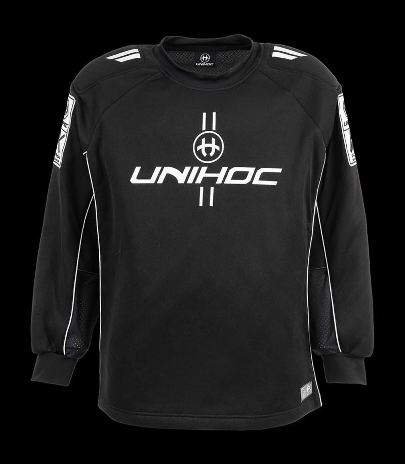 unihoc Goalietop ALPHA noir/argent