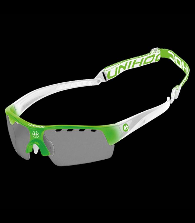 unihoc lunettes de sport Victory junior vert néon/blanc