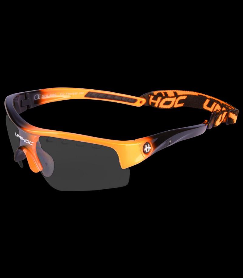 unihoc lunettes de sport Victory Kids orange/noir