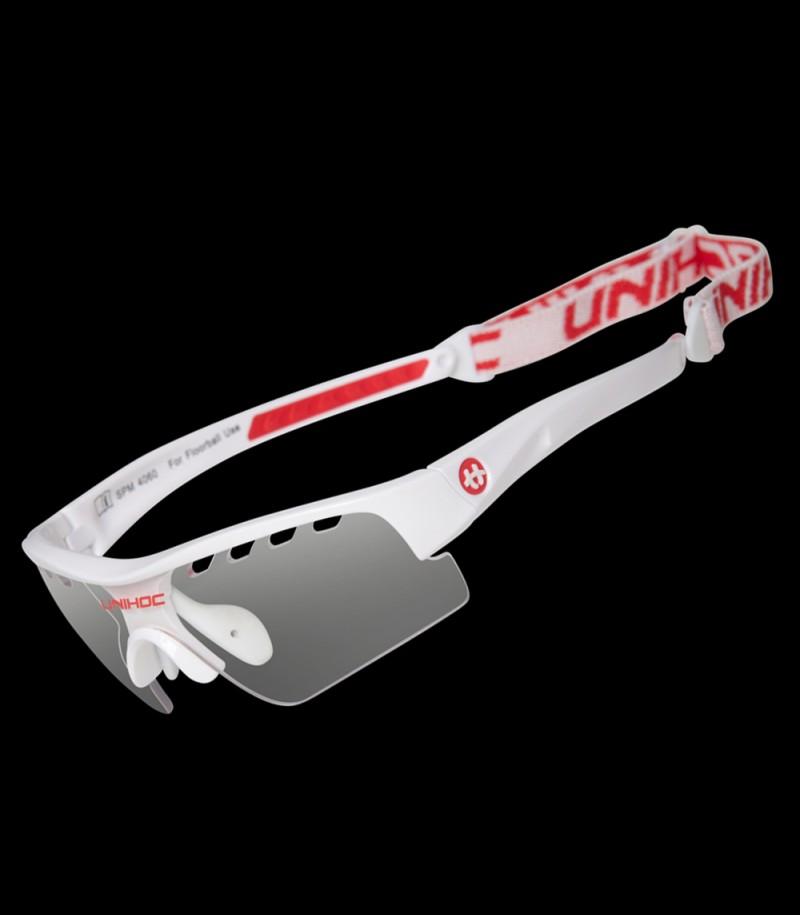 unihoc lunettes de sport Victory Kids blanc/rouge