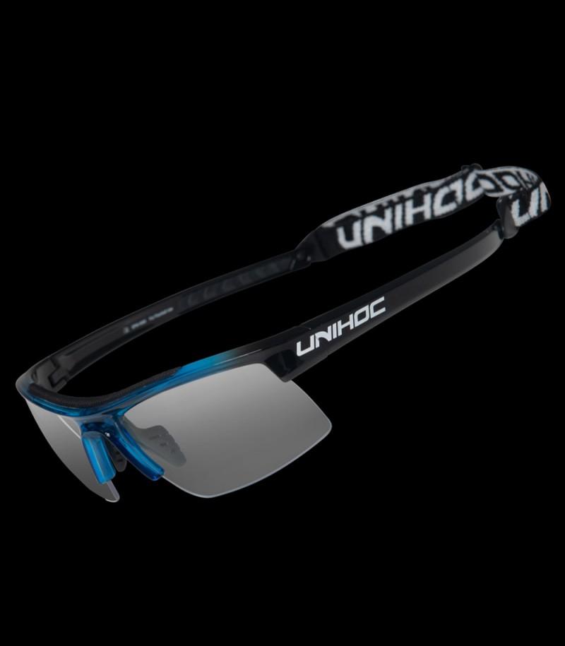 unihoc lunettes de sport Energy Kids bleu/noir
