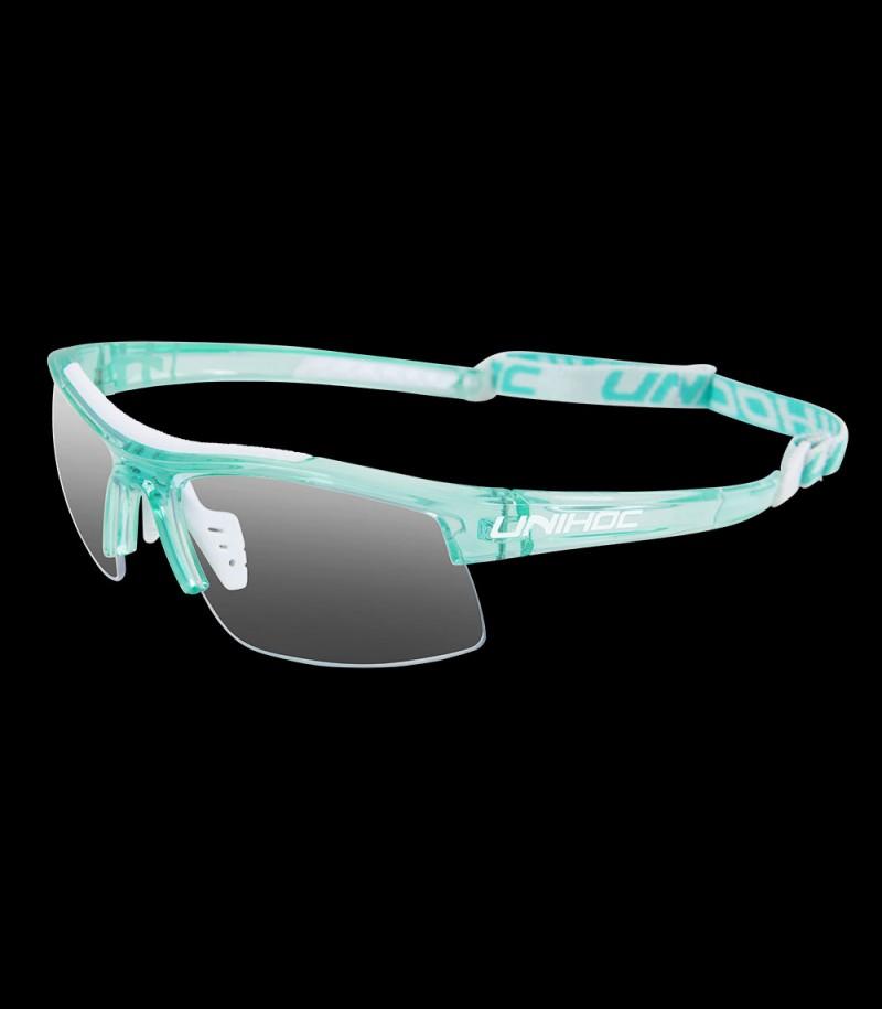 unihoc lunettes de sport Energy Kids crystal tourquoise/blanc