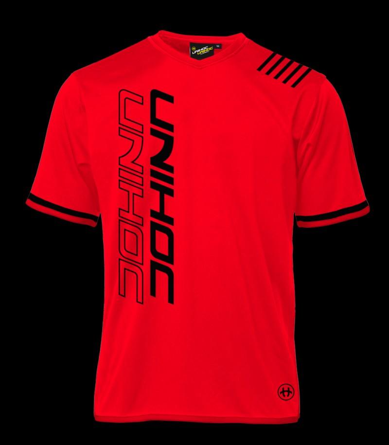 unihoc Shirt Vendetta rouge néon/noir