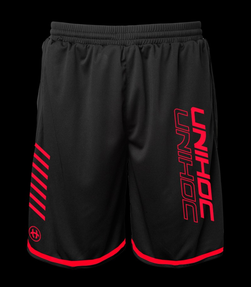 unihoc Shorts Vendetta noir-rouge