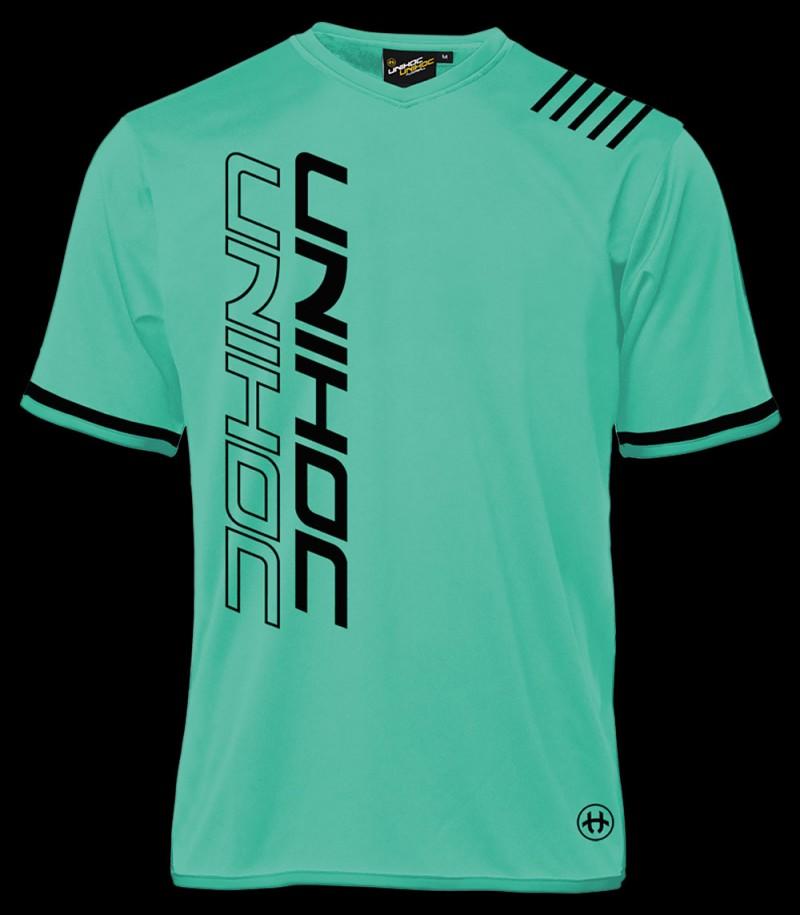 unihoc Shirt Vendetta turquoise/noir