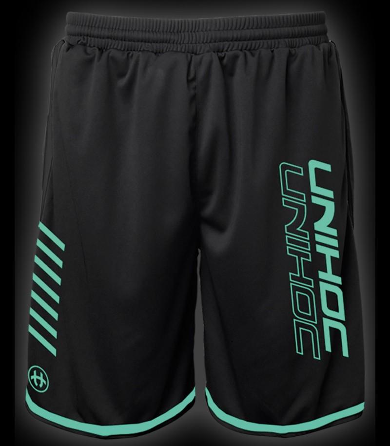 unihoc Shorts Vendetta noir/turquoise