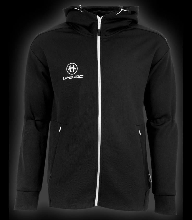 unihoc Hood Zip Technic black
