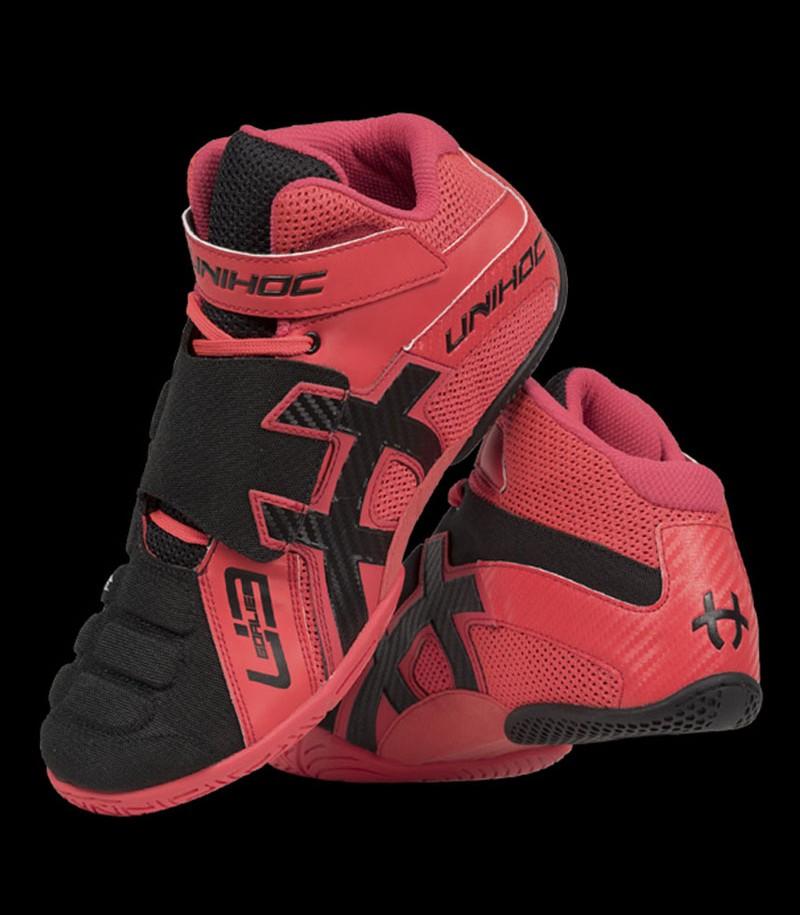 unihoc U3 chaussure de gardien rouge/noir