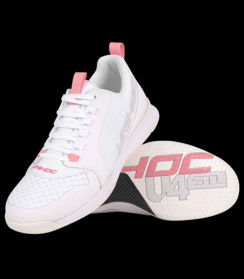 unihoc U4 Plus LowCut Lady white/pink
