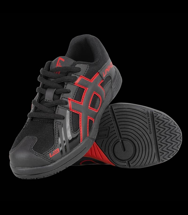 unihoc U3 Power Junior noir/rouge