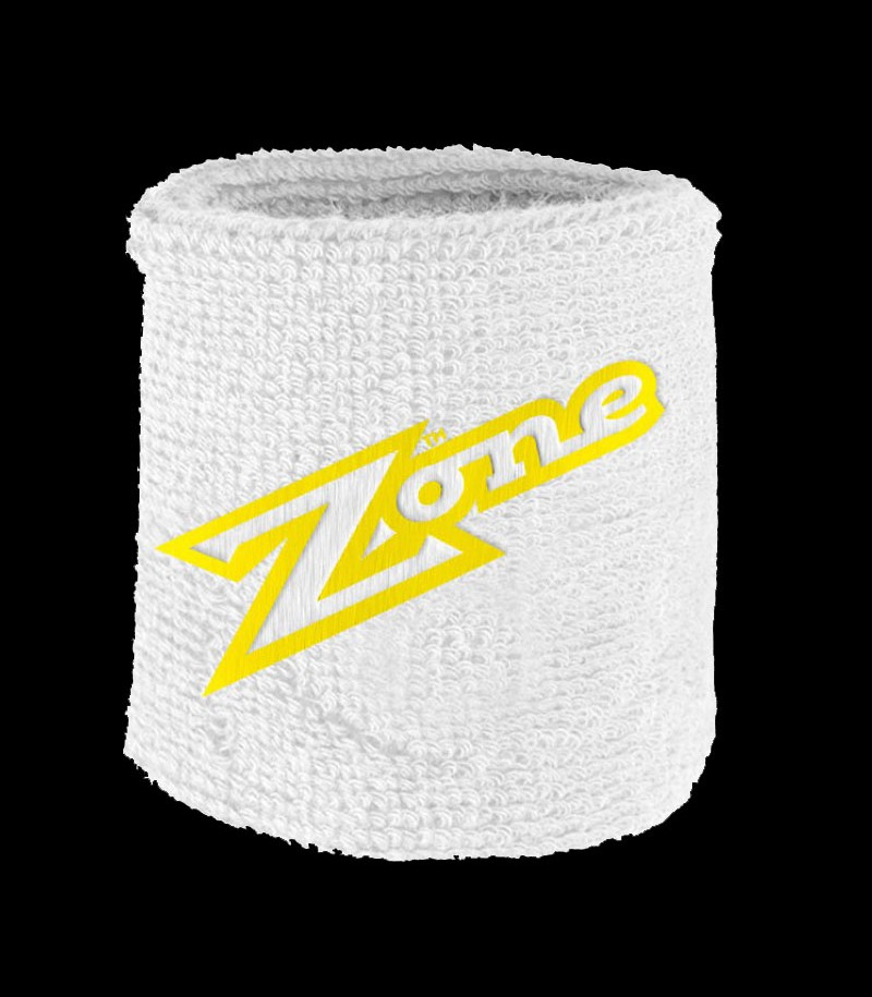 Zone Serre-poignet Old School blanc-jaune (lot de 2)