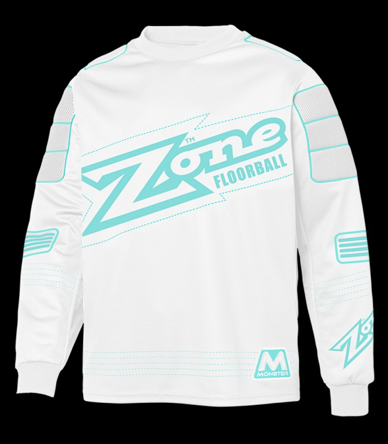 Zone pull-over de gardien Monster blanc/turquoise