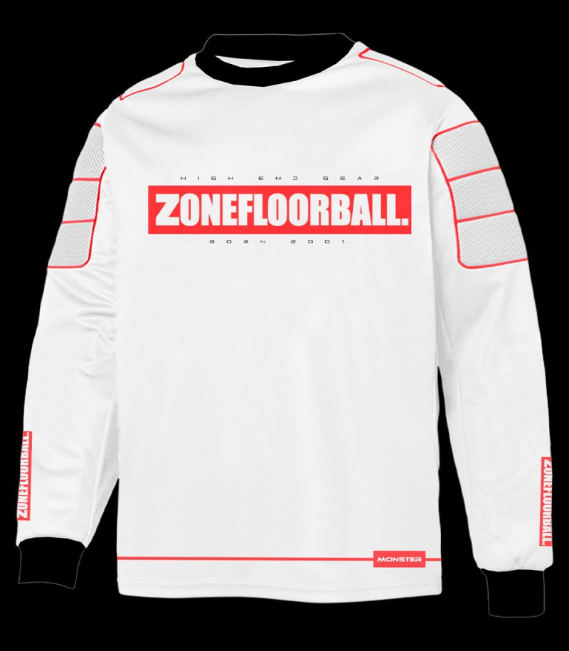 Zone pull-over de gardien Monster Senior blanc/rouge