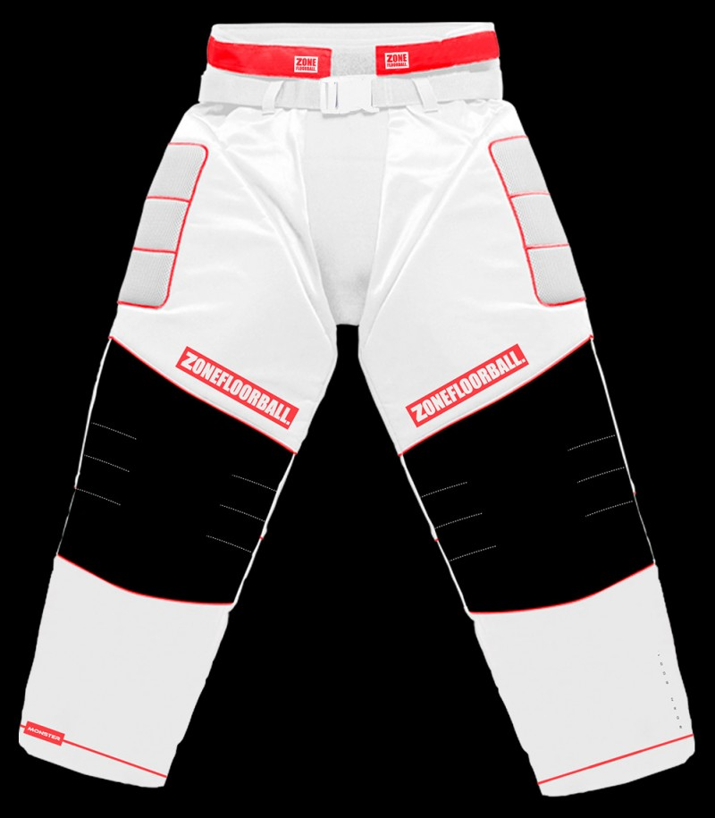 Zone Pantalon de gardien Monster Senior blanc/rouge