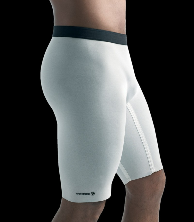 Pantalons Thermiques Rehband Basic Line blanc