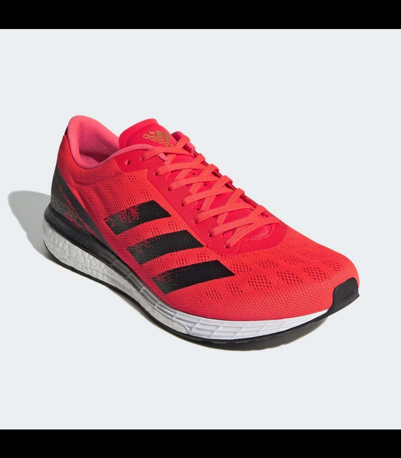 Adidas adizero Boston 9 Solar Red/Core Black/Gold Metallic