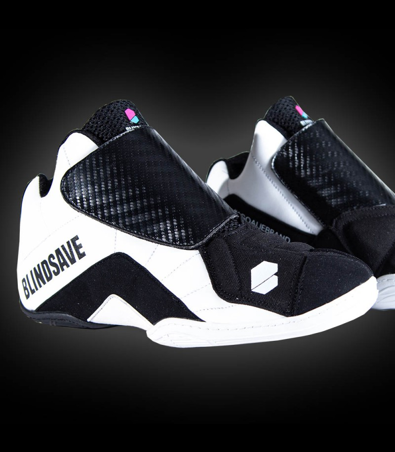 Blindsave chaussures de gardien de but noir/blanc