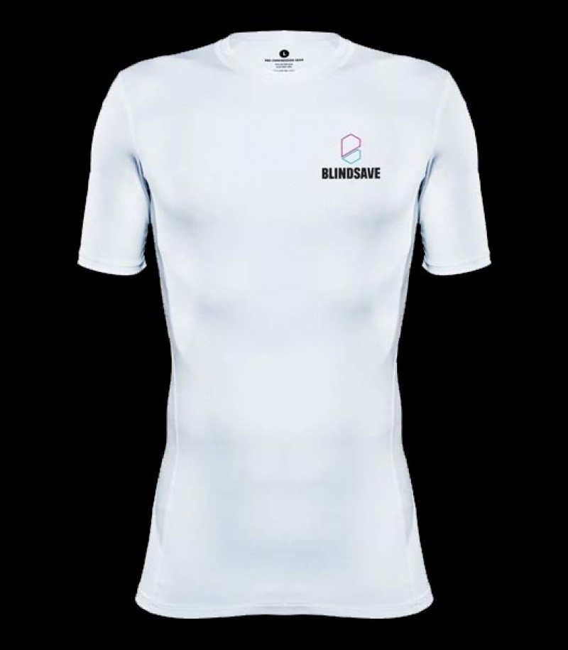 Blindsave Shortsleeve Compression Shirt white