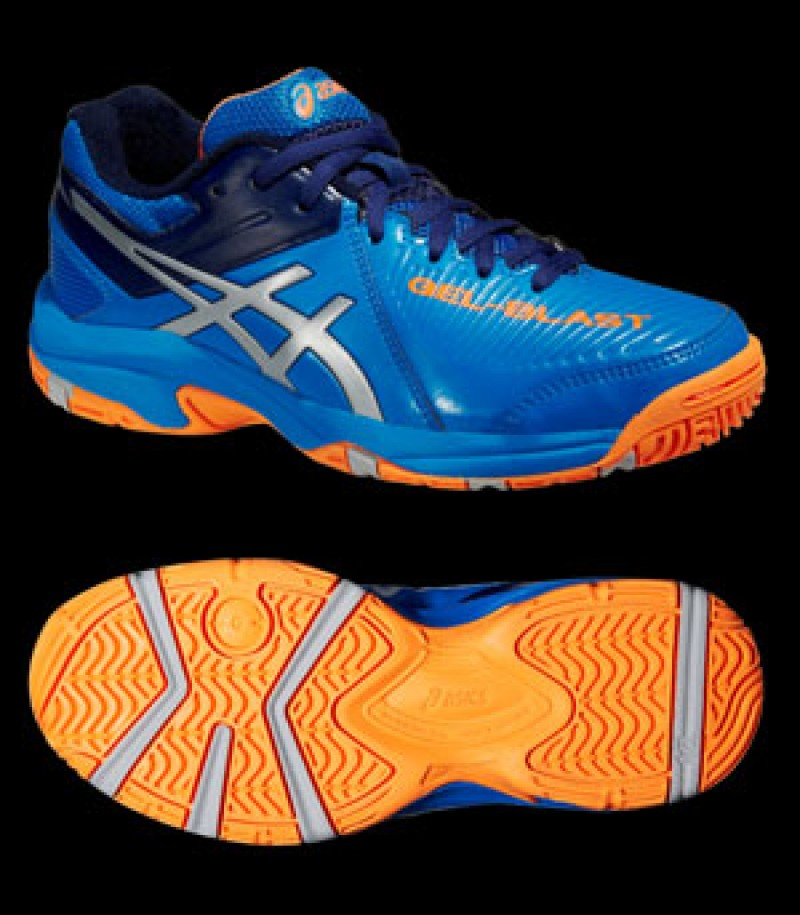 unihockeyshop_asics GEL-BLAST 6 GS Kids electric blue/orange