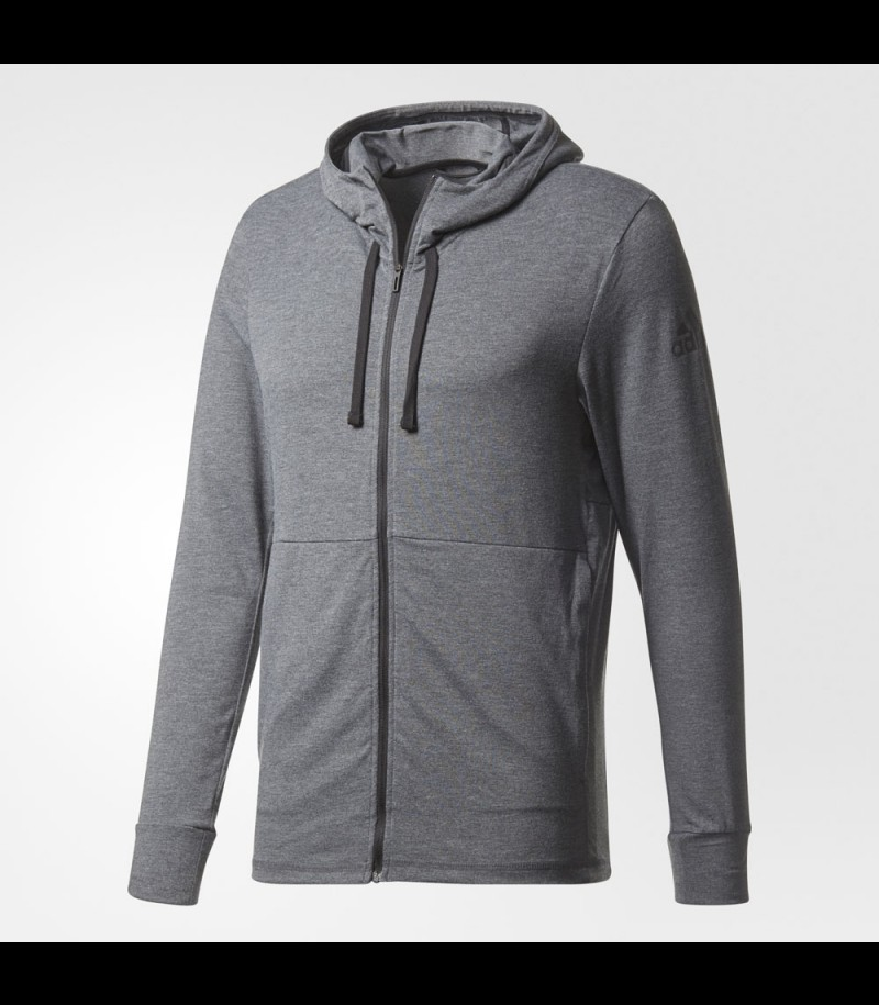 adidas Workout Fullzip Hood dark grey