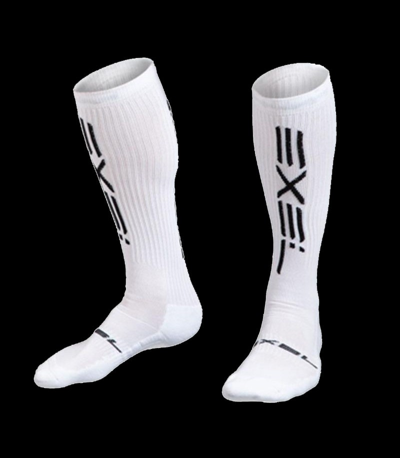 Exel chaussettes Smooth blanc