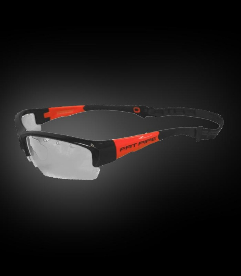 Lunettes de protection Fatpipe Kids noir-orange