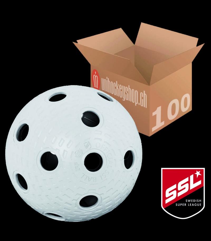 Klubbhuset Balle de match SSL blanc (Lot de 100)