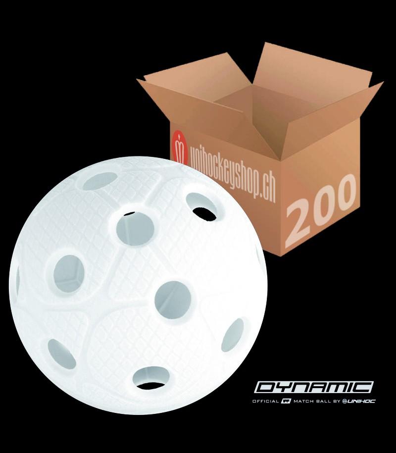 unihoc Balle de match Dynmic blanc (Lot de 200)
