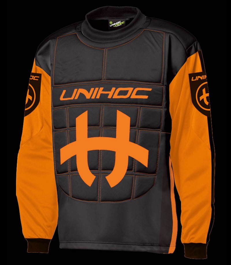 unihoc Pull-over de gardien Shield Senior orange néon/noir
