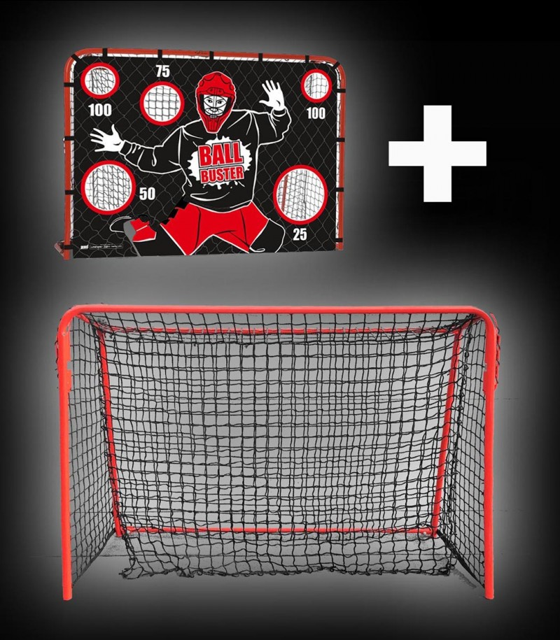 unihoc Goal Street Collapsible (120x90cm) avec paroi de but Ballbuster Junior