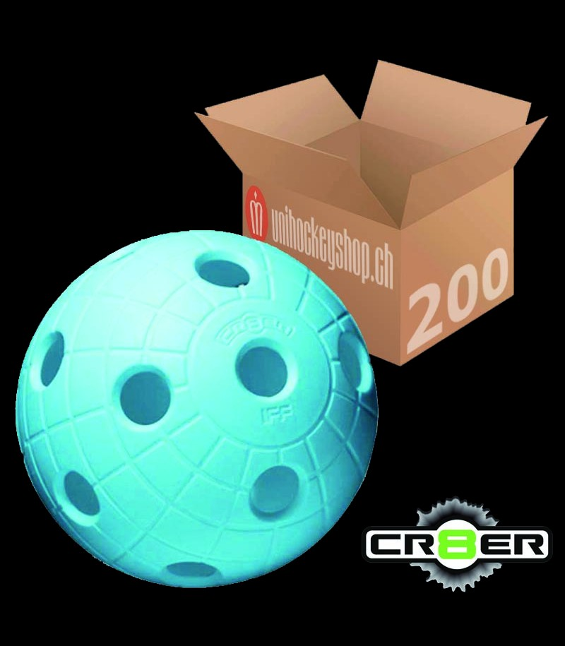 unihoc Balle de match CR8ER bleu clair (Lot de 200)