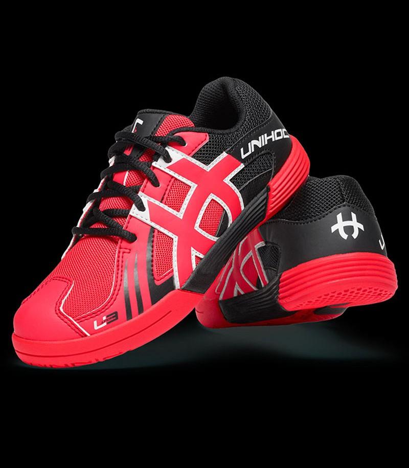 unihoc U3 Power Junior rouge-néon/noir